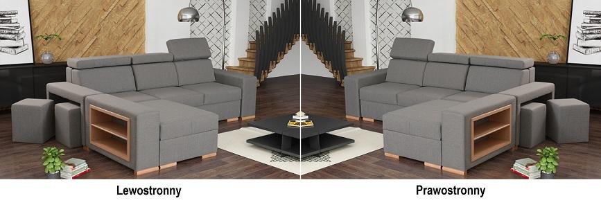 kanapa narożna z pufami